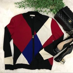 St. John knit vintage sweater cardigan size S
